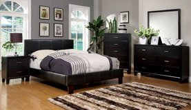 New! California KING Size Bed Frame in Espresso Leatherette DELIVERY in Oceanside, California