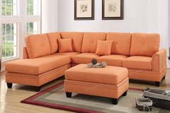 New Citrus Linen Fabric Sectional Sofa FREE DELIVERY in Oceanside, California