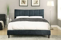 New! Blue Padded FULL or QUEEN Bed Frame FREE DELIVERY in Oceanside, California
