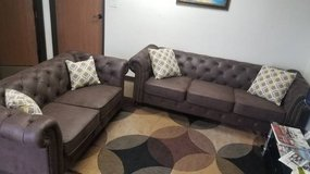 New! Breathable Leatherette Sofa and Loveseat Set FREE DELIVERY in Camp Pendleton, California