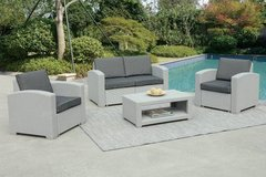 New Gray Loveseat + 2 Chairs + Table Patio Outdoor Set FREE DELIVERY in Camp Pendleton, California