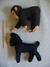 Vintage 1950s Straw-Stuffed Stuffed Animals Monkey Poodle in Colorado Springs, Colorado