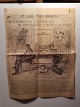 12 pages of st louis post-dispatch 1904 worlds fair. in O'Fallon, Missouri