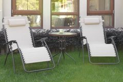 New! Cream Pair Zero Gravity Outdoor Patio Chairs DELIVERY AVAILABLE in Oceanside, California