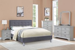 New! FULL or QUEEN Gray Blue Linen Bedframe FREE DELIVERY starting in Camp Pendleton, California