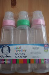 NEW Gerber First Essentials Clearview Bottle 9-ounce 3 Pack in Morris, Illinois