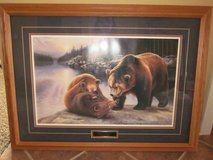 Daniel Renn Pierce Framed Art Bear Cub Battle in Schaumburg, Illinois