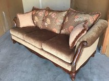 Microvelour Couch Sofa  Beautiful quality in Travis AFB, California