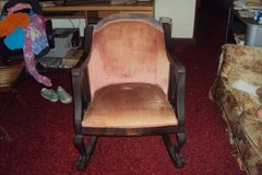 Victorian Style Arm Chair - Pink Velvet/Mahogany - Early 1900s  OBO in Wilmington, North Carolina