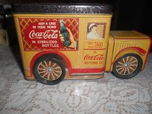 VintageTin  COCA-COLA DELIVERY TRUCK!   Made into a Coin Bank.  Unusual! in Spring, Texas