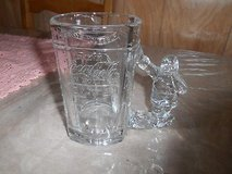 20oz COCA COLA Drinking Glass / Mug with Thick Glass SANTA Handle! in Bellaire, Texas