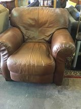 Overstuffed, Super Comfortable Leather Easy Chair - Delivery Available in Fort Lewis, Washington