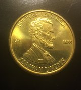 Rare Abraham Lincoln token; Honest Abe The Great Emancipatot; 1861-1865 1 1/8 in diameter in Quantico, Virginia