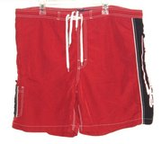 Big Dogs Red Nylon Mesh Lined Cargo Swim Trunks XL Measures 42 Board Shorts in Morris, Illinois