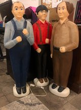 3 stooges blow mold-larry, curly and moe.  in Baytown, Texas