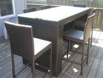 Merax 7-Piece Patio Pub Table & 6 Chairs - PE Rattan / Wicker in Oswego, Illinois
