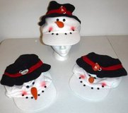 New! (3) Snowman Hats ~ Holiday Novelty Caps in Lockport, Illinois
