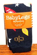 NEW Boys Baby Legs Space Rocket Galaxy Leg Warmers Arm Socks Knee Crawling in Morris, Illinois