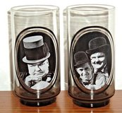 Vintage 1979 Arbys W C Fields Laurel Hardy Hollywood Actors Collector Drinking Glass Lot in Shorewood, Illinois