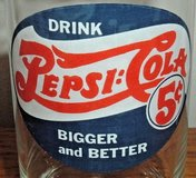 Vintage Drink Pepsi Cola Bigger and Better Collector Drinking Glass w 1906 Logo in Joliet, Illinois