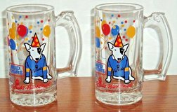 Vintage 1987 Lot of 2  Bud Light Spud McKenzie Original Party Animal Beer Mugs in Yorkville, Illinois