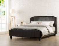 Zinus Faux Leather Platform Bed - Queen Size - New! in Plainfield, Illinois