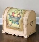 Decorative Painted Wood Chest in Aurora, Illinois