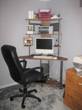 Corner Computer Desk with Hutch + Chair in Wheaton, Illinois