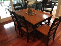 Kitchen set~Table, leaf, 6 chairs in Aurora, Illinois