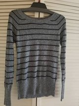 Ladies stretchy long sleeve striped pullover sweater in Oceanside, California