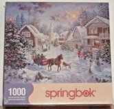 NEW Springbok Night Before Christmas 1000 Piece Jigsaw Puzzle Horse Carriage in Plainfield, Illinois