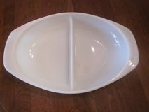 Rare Vintage Pyrex Double (Two) Compart 1-1/2 Qt Serving Dish in Morris, Illinois