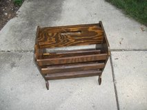 ANTIQUE MAGAZINE RACK VERY DEEP ALL WOOD in Naperville, Illinois