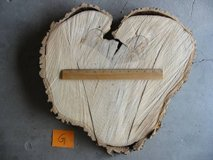 Ash wood slab slice X-LARGE HEART-SHAPED 18 in rustic wedding cake cen in Colorado Springs, Colorado