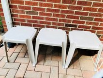 SET OF THREE PATIO/DECK TABLES in Yorkville, Illinois