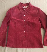 Women's Suede Leather Jacket Size L in Plainfield, Illinois