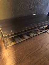 USEFUL and BOLD Rustic wood bench in El Paso, Texas