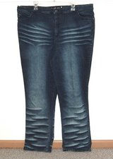 Womens Plus 24 Quizz New York High Waist Stretchy Whiskered Straight Jeans 24w in Morris, Illinois