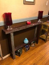 INTERESTING solid wood rustic hallway table in Fort Bliss, Texas