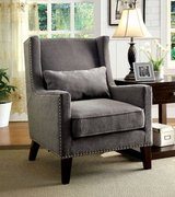 New! Tomar Gray Flannelette Accent Chair DELIVERY AVAILABLE in Camp Pendleton, California