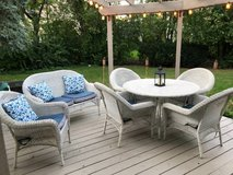 All Weather Wicker Patio Furniture Set. Includes Cushions in Chicago, Illinois