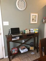 FANTASTIC dark-stained solid wood hallway/accent table in Fort Bliss, Texas