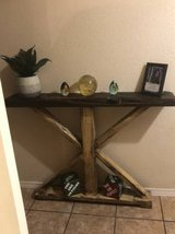 STUNNING and UNIQUE solid wood rustic hallway/accent table - MUST SEE in Fort Bliss, Texas