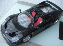 burago gold collection 1995 black ferrari f50 1:18th scale die cast model in Plainfield, Illinois