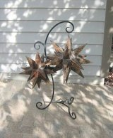 Patio / Deck / Porch Wrought Iron Hanger with Unique Metal Stars in Lockport, Illinois