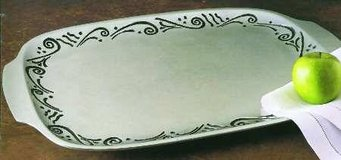 Lenox Metal Ware Rectangular Tray - Spyro pattern in Cary, North Carolina