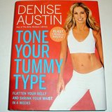 Tone Your Tummy Type by Denise Austin Fitness Exercise Routines Hardcover Book w Dust Jacket in Joliet, Illinois