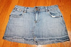 Denim Mini Skirt - Light Wash, Frayed Hem, Younique Brand, Size 7 in Glendale Heights, Illinois