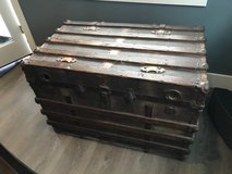 Antique steamer trunk in Plainfield, Illinois