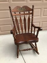 Vintage Solid Wood Rocking Chair in Vacaville, California